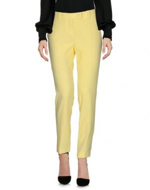 Повседневные брюки TROU AUX BICHES. Цвет: светло-желтый