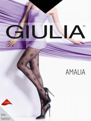 Фантазийные колготки AMALIA 02, 2 пары (20 ден) Giulia. Цвет: черный