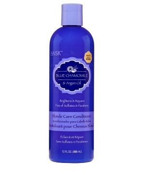 Кондиционер с экстрактом голубой ромашки и аргановым маслом для светлых волос HASK. Цвет: голубой