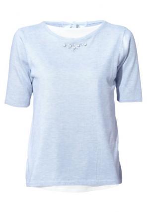 Пуловер Rick Cardona. Цвет: голубой