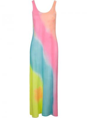 Декорированное платье Skinbiquini. Цвет: многоцветный