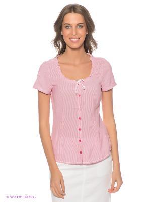 Блузка LERROS. Цвет: розовый, белый