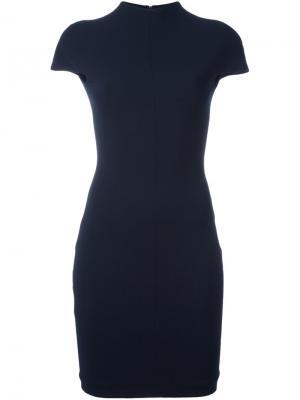 Платье Alana с глубоким вырезом Solace. Цвет: синий