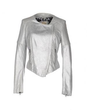 Куртка VINTAGE DE LUXE. Цвет: серебристый