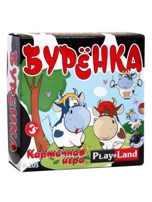 Карточная игра  Буренка PLAY LAND. Цвет: черный, белый, зеленый, красный