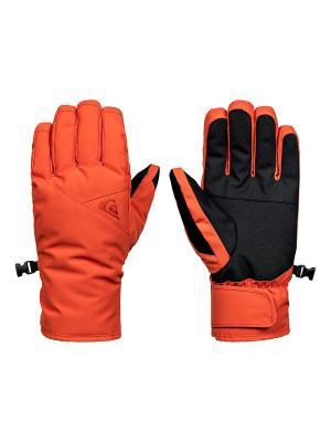 Перчатки Quiksilver. Цвет: оранжевый, рыжий