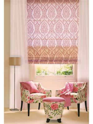 Римская тканевая штора, Сангрия, размер: 100х160 см Эскар. Цвет: розовый