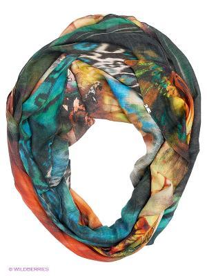 Платок FRAAS. Цвет: оранжевый, голубой, зеленый
