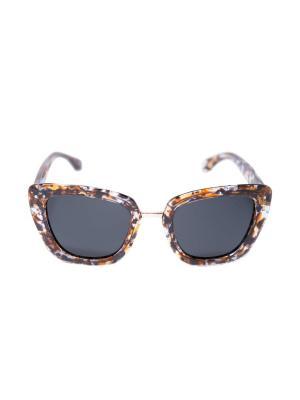 Солнцезащитные очки Mitya Veselkov. Цвет: черный, коричневый