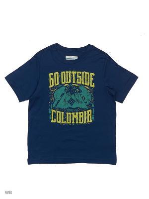 Футболка Columbia. Цвет: темно-синий
