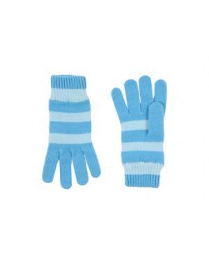 Перчатки PAUL SMITH. Цвет: лазурный