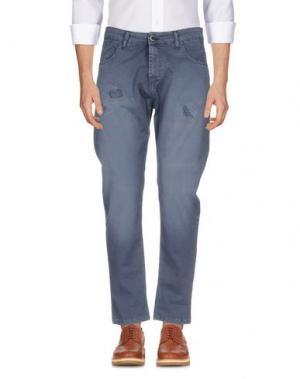 Повседневные брюки QUINTESSENCE. Цвет: темно-синий