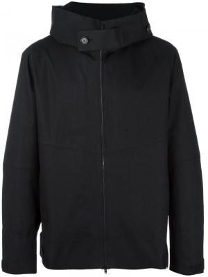 Куртка с капюшоном и принтом обезьяны Ahirain. Цвет: чёрный