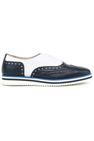 Лоферы Baldinini Trend. Цвет: синий, белый