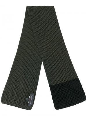 Вязаный шарф Rossignol. Цвет: зелёный