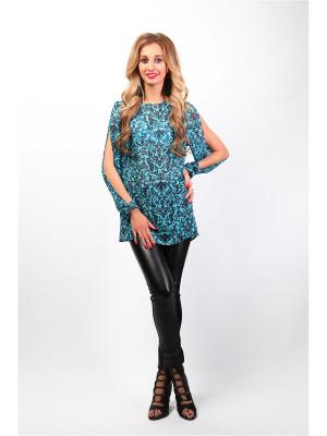 Блузка Glam Goddess. Цвет: голубой