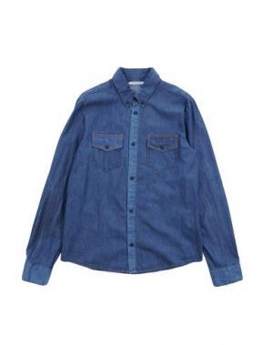 Джинсовая рубашка TOYS FRANKIE MORELLO. Цвет: синий