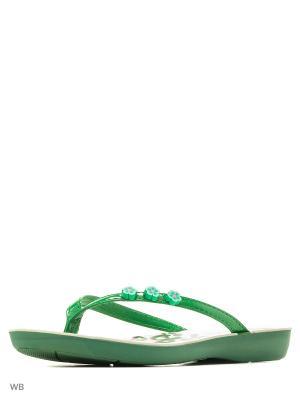 Пантолеты Inblu. Цвет: зеленый