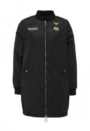 Куртка утепленная QED London. Цвет: черный