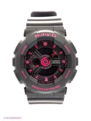 Часы Baby-G BA-111-1A CASIO. Цвет: черный, фуксия