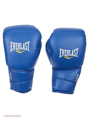 Перчатки тренировочные Everlast. Цвет: синий