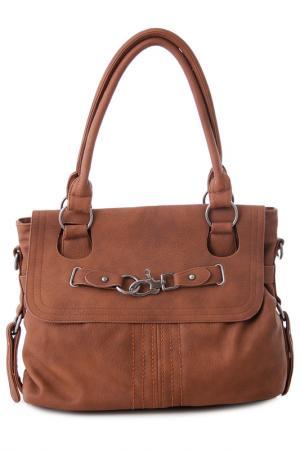 Сумка Vera bags. Цвет: brown