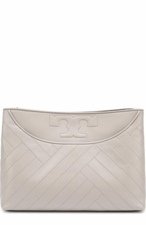 Сумка Alexa Center-Zip Tory Burch. Цвет: серый