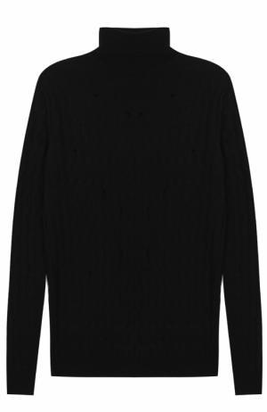 Шерстяной свитер фактурной вязки Damir Doma. Цвет: черный