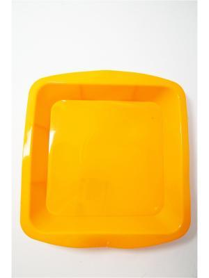 Форма силиконовая 24x24x4.5см, квадратная. Vetta. Цвет: желтый