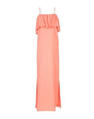 Длинное платье MSGM. Цвет: лососево-розовый