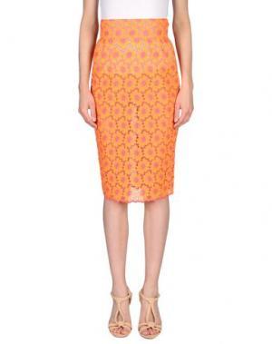 Юбка до колена DAIZY SHELY. Цвет: оранжевый