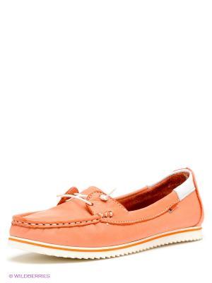 Мокасины El Tempo. Цвет: персиковый