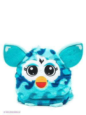 Плюшевый рюкзак, 35 см Furby. Цвет: голубой