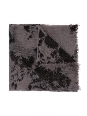 Tie dye print scarf Suzusan. Цвет: чёрный