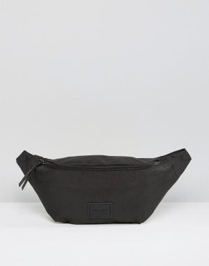 ASOS Черная сумка-кошелек на пояс. Цвет: черный