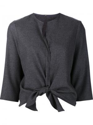 Tie knot blouse Peter Cohen. Цвет: серый