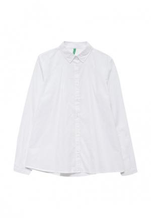 Рубашка United Colors of Benetton. Цвет: белый