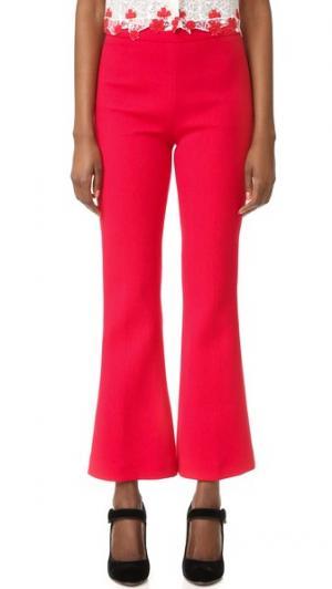 Укороченные брюки Giambattista Valli. Цвет: красный