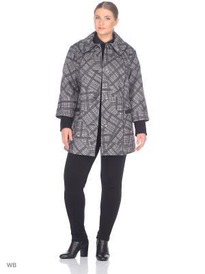 Пальто Бленда VIKO. Цвет: серый