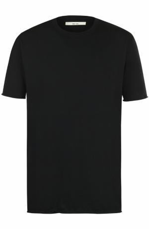 Хлопковая футболка с круглым вырезом Damir Doma. Цвет: черный