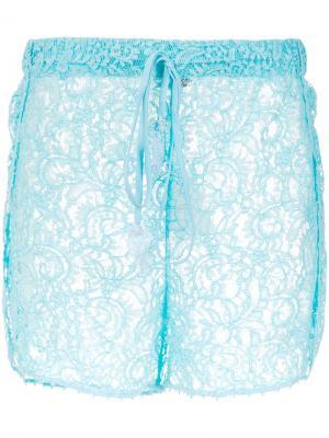 Lace shorts Martha Medeiros. Цвет: синий