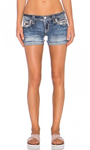 Джинсовые шорты pilkin Rock Revival. Цвет: none