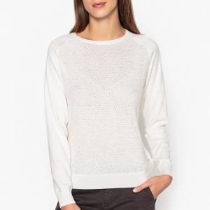 Пуловер из тонкого трикотажа MAGIE HARRIS WILSON. Цвет: сине-зеленый,экрю