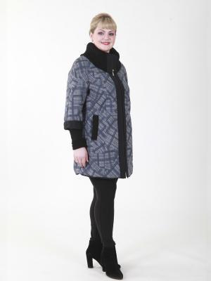 Пальто Элизабет VIKO. Цвет: синий, серый