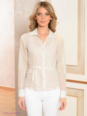 Блузка ЭНСО. Цвет: бледно-розовый, бирюзовый, серебристый, бежевый
