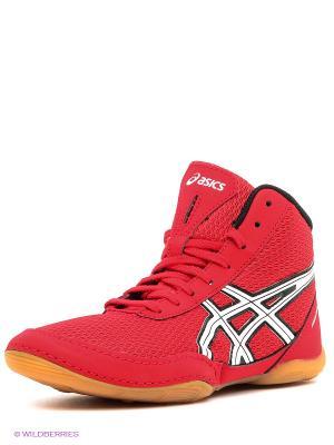 Кроссовки для борьбы Matflex 5 Gs ASICS. Цвет: красный, белый, черный