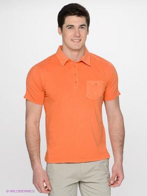 Футболка-поло Navigare. Цвет: оранжевый
