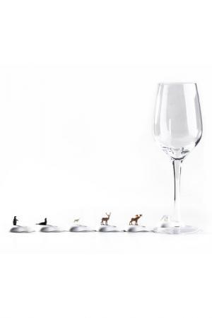 Маркеры для бокалов Hot wine Qualy. Цвет: мультицвет