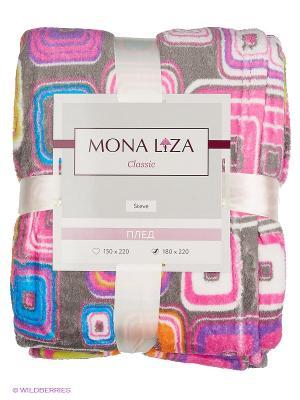 Плед Steve Mona Lisa Classic LUIGI Liza. Цвет: синий, серо-коричневый, фиолетовый, желтый, фуксия