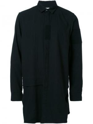 Рубашка с потайной застежкой Cy Choi. Цвет: чёрный